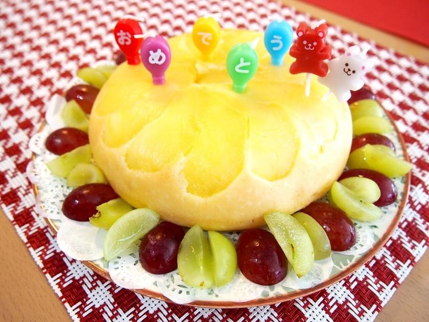 1歳のお誕生日に♪炊飯器でリンゴケーキ