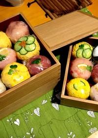 おもてなしに♪簡単手まり寿司。