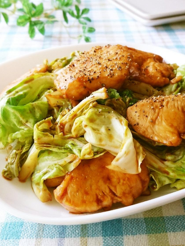 鶏胸肉と春キャベツのレモンオイスター炒め