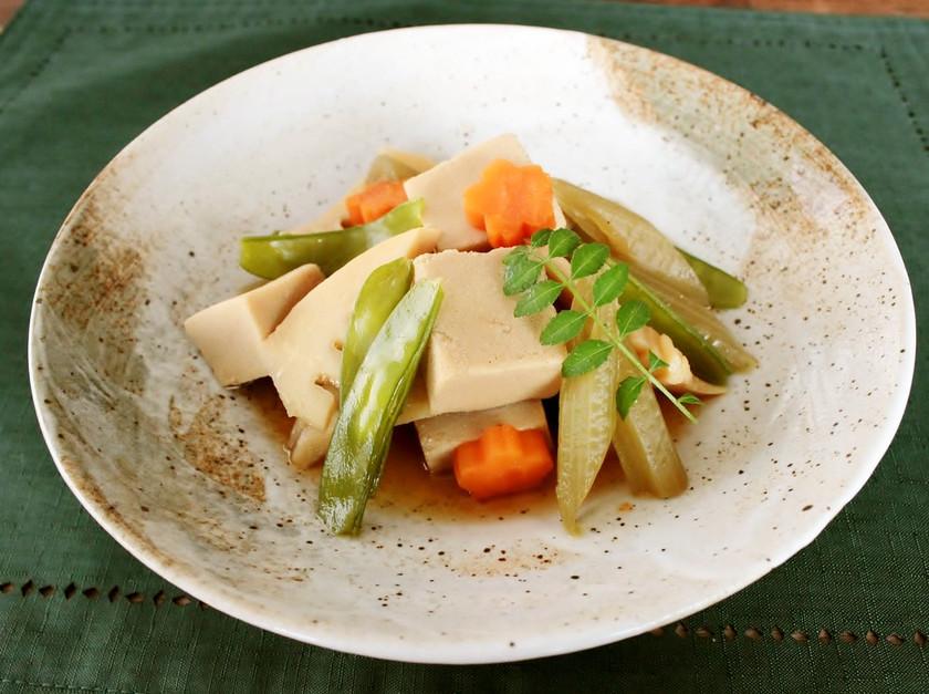 レンジで簡単!たけのこと高野豆腐の煮物