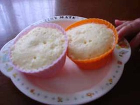 1個だけ!ホットケーキミックス蒸しパン