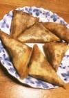 パリパリウマ〜☆納豆チーズの三角春巻き