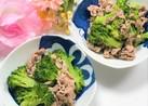 薄切り肉(こま肉)とブロッコリーの炒め物
