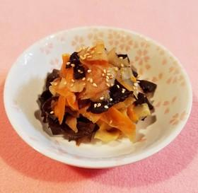 キクラゲとペラペラ根菜の甘辛煮♡
