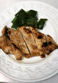 高タンパク低脂肪!鶏むね肉の白味噌焼き