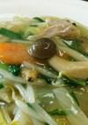 鳥胸肉の茹で汁と春野菜の中華丼