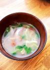 きのこと豆苗のお味噌汁