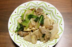 筍と小松菜のオイスターソース炒め