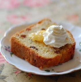 ラムレーズンのバターケーキ