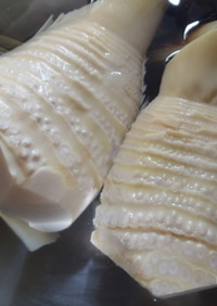 米のとぎ汁で…タケノコのあく抜き