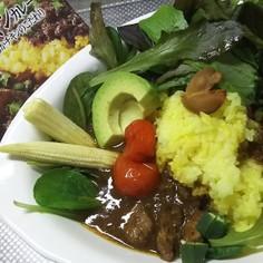 ネゴンボ33カレー(レトルト)野菜ON♪