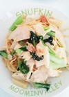 筍と小松菜のたらこバターパスタ