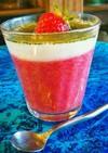 30分で!苺とヨーグルトムース抹茶ソース