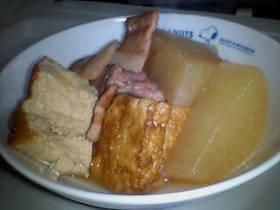 大根と豚肉と厚揚げの煮物