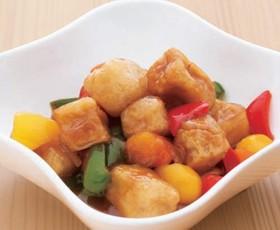 高野豆腐の甘酢あんかけ