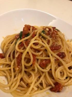 ミニトマトで簡単!オイルのスパゲッティ