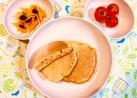 ポリ袋で♫野菜ジュース&バナナのパンケーキ