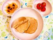 ポリ袋で♫野菜ジュース&バナナのパンケーキの写真