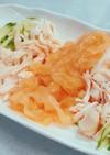 クラゲときゅうり、ササミの中華風酢の物