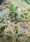 豆苗とツナのスパサラダ