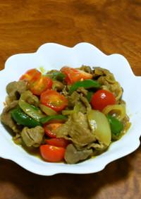 ラム肉とトマトのカレー炒め