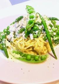 糖質制限!緑野菜のホワイトボロネーゼ