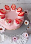 簡単!かわいい!いちごのレアチーズケーキ