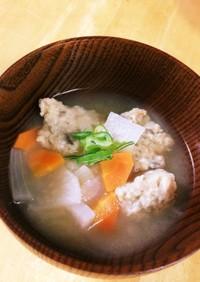 野菜とすり身のお味噌汁