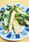 うど♥️のらぼう菜の天ぷら