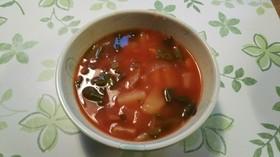野菜ジュースでスープ