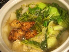 美味しい鶏のつくね鍋、2種類バージョン