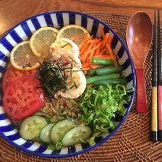 5大栄養素バッチリ[ふるる冷麺]の冷麺!