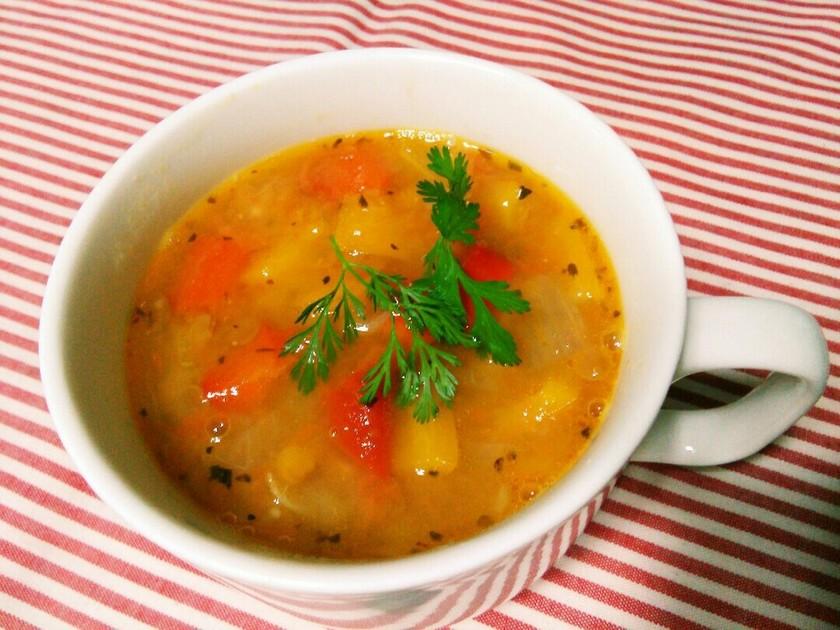 ⅲパプリカとレンズ豆のスープ