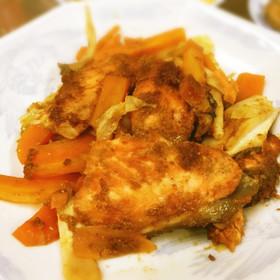 野菜たっぷり☆鮭とキャベツのゴマ味噌蒸し