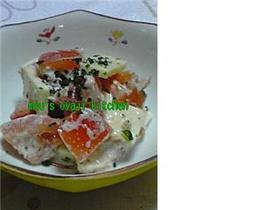 簡単レシピ25 トマトとチーズのサラダ