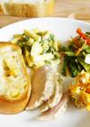 民泊飯 コンビニ総菜でかんたん洋朝食