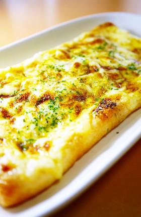 サクッ&とろ~り!油揚げピザ(カレー粉)