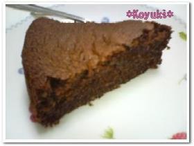 しっとり濃厚♪おからチョコレートケーキ