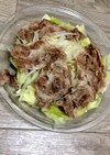 レンチン簡単!豚もやしとキャベツの温野菜