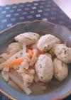 ふわっふわ♬豆腐と鶏ひき肉団子の和風煮
