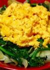 ふんわり卵とほうれん草のバター炒め