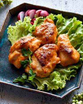 下味冷凍◎チキンのピリ辛味噌マヨ焼き♪