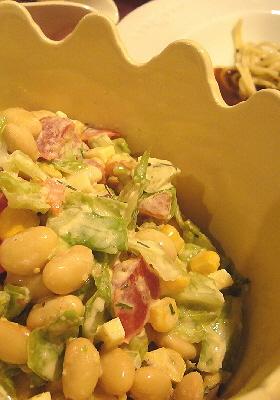 ダブルチーズのカラフル豆サラダ