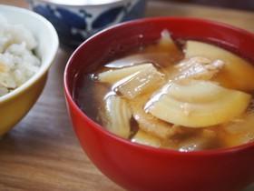 ツナ缶でコクのある筍汁