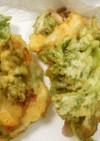 うど菜とハリいかのかき揚げ サクサク簡単