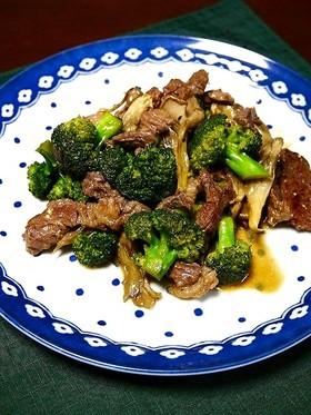 ダイエット!牛肉とブロッコリーと舞茸炒め