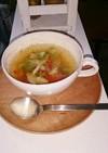 塩セロリとトマト♡レタスのスープ