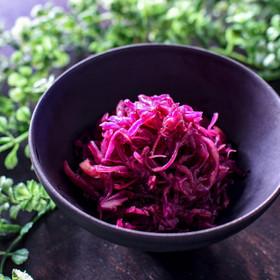 紫キャベツのソースマリネ◎作り置き♪
