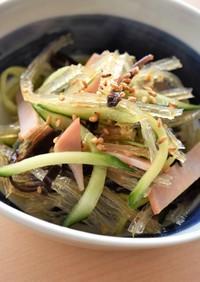 食感が楽しい♪糸寒天の中華風サラダ