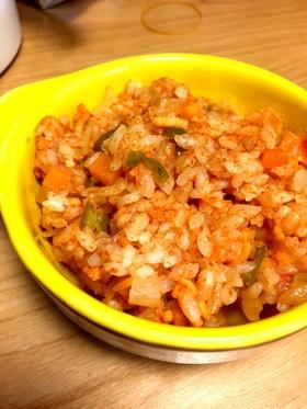 野菜ジュースでチキンライス【離乳食後期】